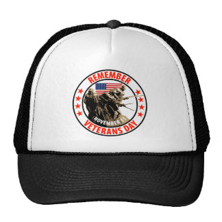 Remember Veterans Day Trucker Hats