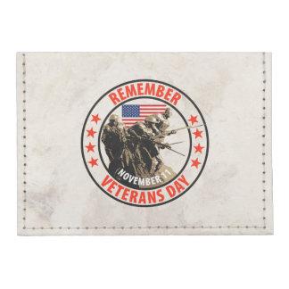 Remember Veterans Day Tyvek® Card Case Wallet