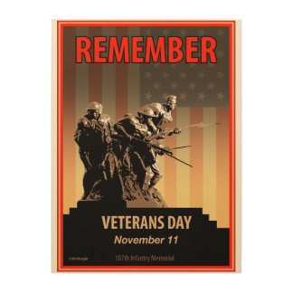Remember Veterans Day Wood Canvases