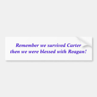 Remember we survived Carter then we were blessed Bumper Sticker