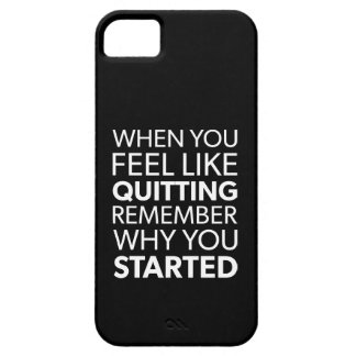 Remember Why You Started - Workout Inspirational iPhone 5 Case