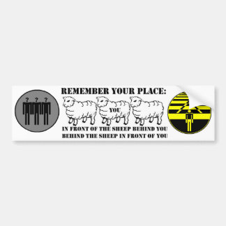 Remember YOur Place Bumper Sticker