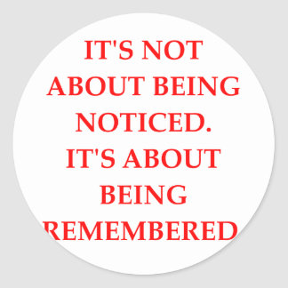 REMEMBERED ROUND STICKER