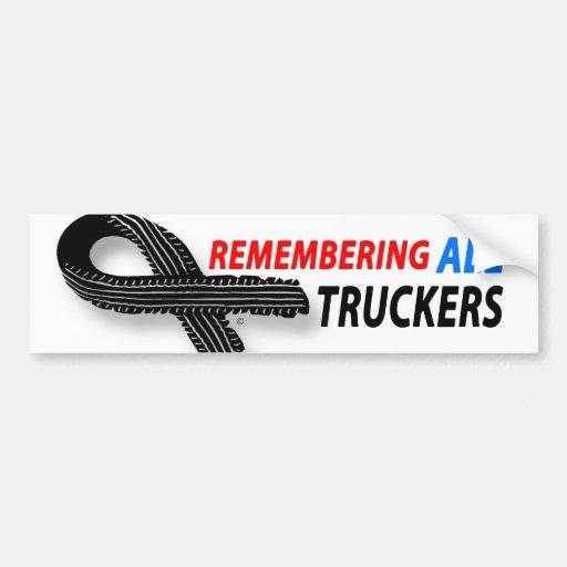 Remembering fallen truckers bumper stickers