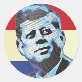 Remembering John F Kennedy Classic Round Sticker