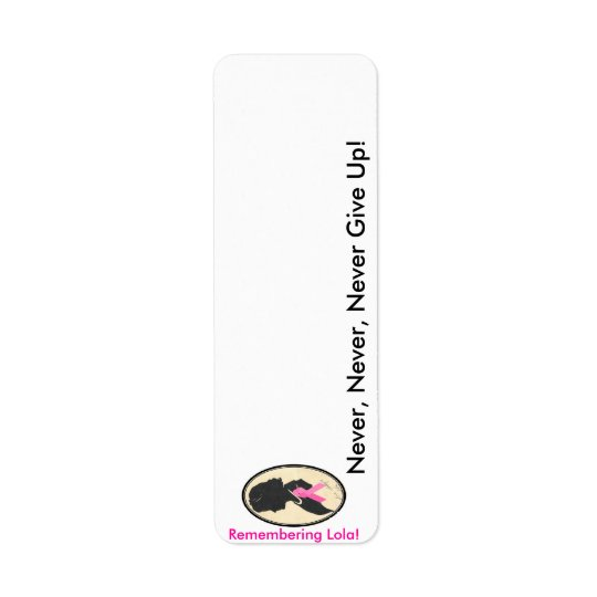 Remembering Lola!! Return Address Label