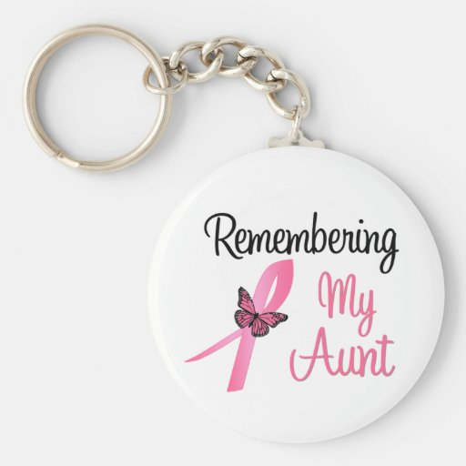 Remembering My Aunt - Breast Cancer Awareness Key Chain