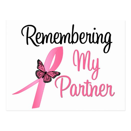Remembering My Partner - Breast Cancer Awareness Post Cards