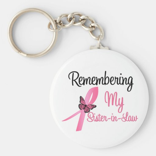 Remembering My Sister-in-Law - Breast Cancer Keychain