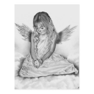 Remembrance angel girl Postcard