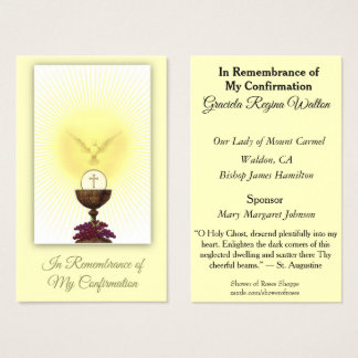 Remembrance Card of the Sacrament of Confirmation