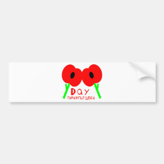 Remembrance Day, Armistice Day or Veterans Day Bumper Sticker