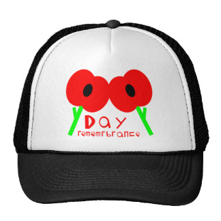 Remembrance Day, Armistice Day or Veterans Day Mesh Hat