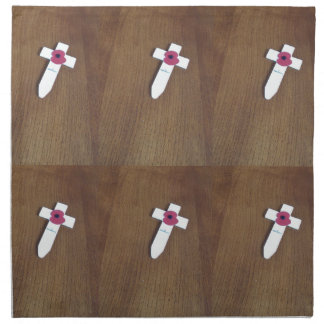 Remembrance Day Cross Cloth Napkins