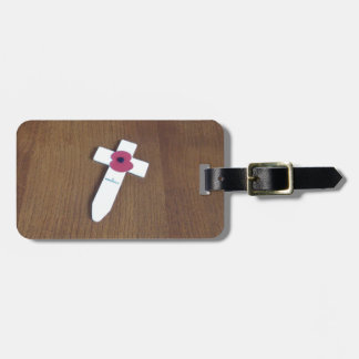 Remembrance Day Cross Tag For Luggage