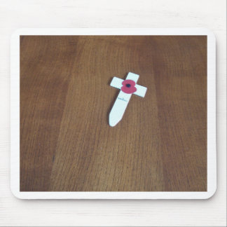 Remembrance Day Cross Mouse Pads