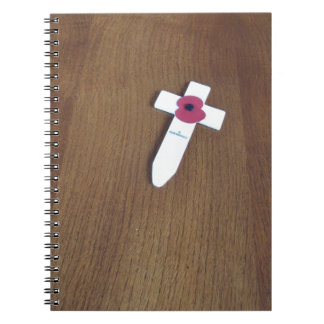 Remembrance Day Cross Spiral Notebook