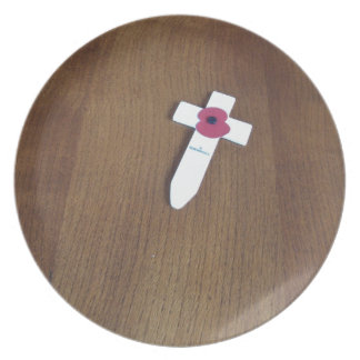 Remembrance Day Cross Party Plate