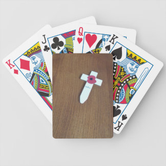 Remembrance Day Cross Bicycle Card Deck