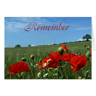 Remembrance Day Poppy Field Card