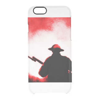 REMEMBRANCE DAY,TROOPS,PAST/PRESENT CLEAR iPhone 6/6S CASE