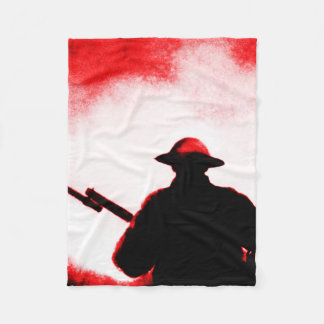 REMEMBRANCE DAY,TROOPS,PAST/PRESENT FLEECE BLANKET