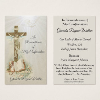 Remembrance Keepsake  Sacrament Confirmation Card