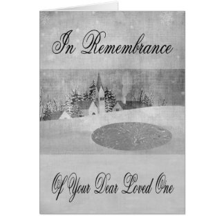 Remembrance Loved One At  Christmas greeting card