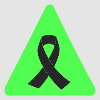 Remembrance, Mourning Black Awareness Ribbon Triangle Sticker