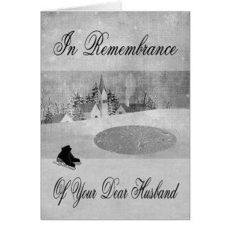 Remembrance Of Husband At Christmas greeting card