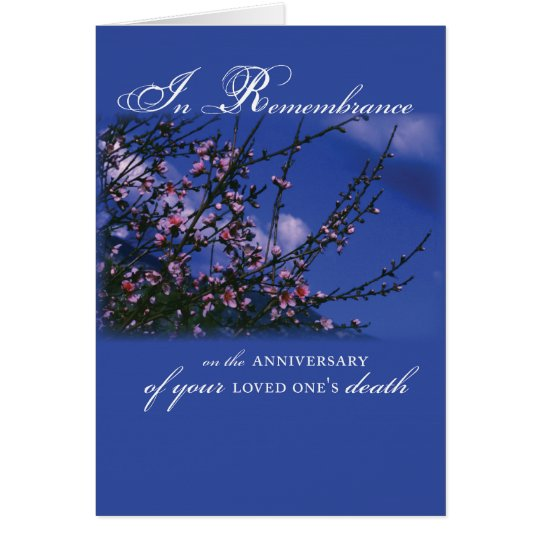 Remembrance on Anniversary Card