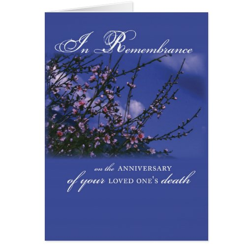 Remembrance on Anniversary of Loved One's Death Greeting Card | Zazzle