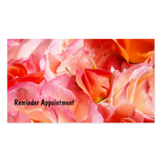 Reminder Appointment Cards custom Pink Roses Business Cards