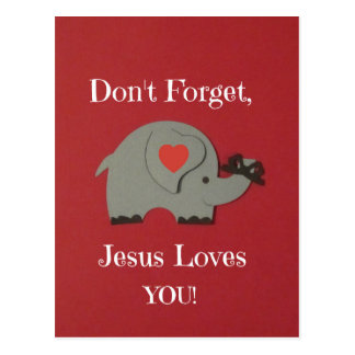 Reminder for children that Jesus loves them! Postcard