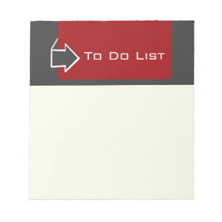 Reminder TO Do List Arrow Design Notepads
