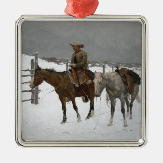 Remington - The Fall of the Cowboy Metal Ornament