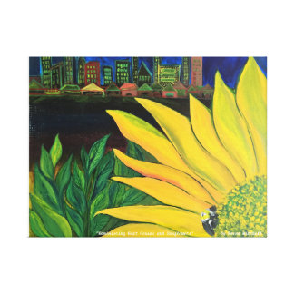 """""""Reminicsing Boat Houses and Sunflowers"""" Canvas Print"""