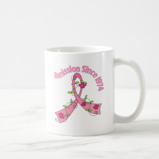 Remission Since 1974 Breast Cancer Coffee Mugs