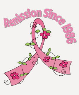 Remission Since 1986 Breast Cancer T Shirts