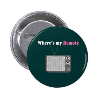 Remote Control Pinback Button