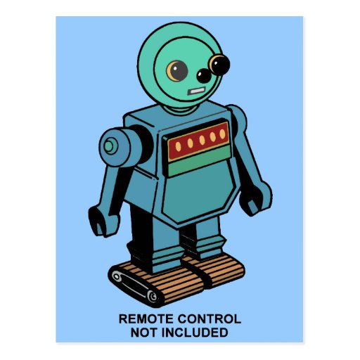 Remote Control Not Included Robot Postcards