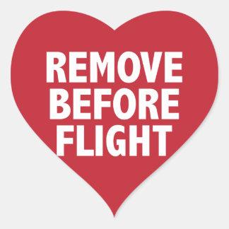 Remove Before Flight Heart Sticker