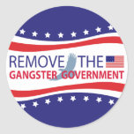 Remove The Gangster Government Stickers