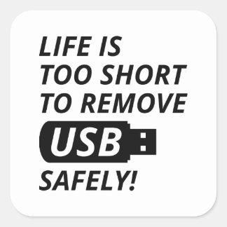Remove USB Safely Square Sticker