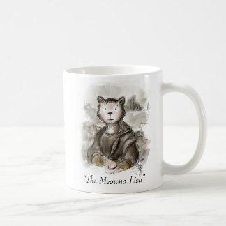 Renaiisance Cat Meowna Lisa Painting Coffee Mug