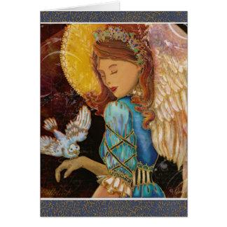 Renaissance Angel & Dove Christmas Greeting Card