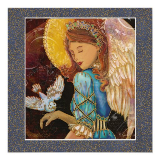 Renaissance Angel & Dove Christmas Invitation