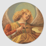 Renaissance Angel Playing Violin Melozzo da Forli Round Stickers