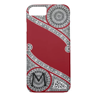 RENAISSANCE ARCHITECT Red Burgundy Monogram iPhone 8/7 Case