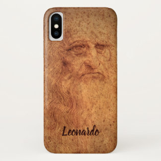 Renaissance Art Self Portrait by Leonardo da Vinci iPhone X Case